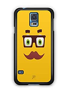 YuBingo Smiley with Glasses and Moustache Mobile Case Back Cover for Samsung Galaxy S5