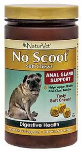 No Scoot Soft Chews Anal Gland Support - 65 Count 6.8 Oz