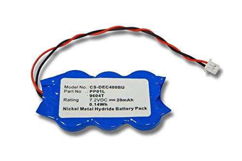 Vhbw batterie ni-mH bios 20mAh (7,2 v) pour ordinateur portable, ordinateur portable dell latitude c510 c540 c640, c610,-l400 ls, lST, lST, comme c400