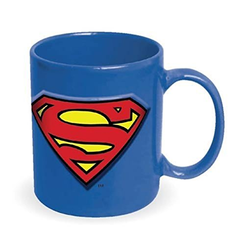 Superman Embossed Logo Ceramic Mug, 20 oz