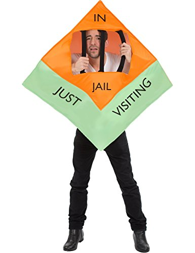 Unisex In Jail Monopoly Board Game Just Visiting Halloween Costume