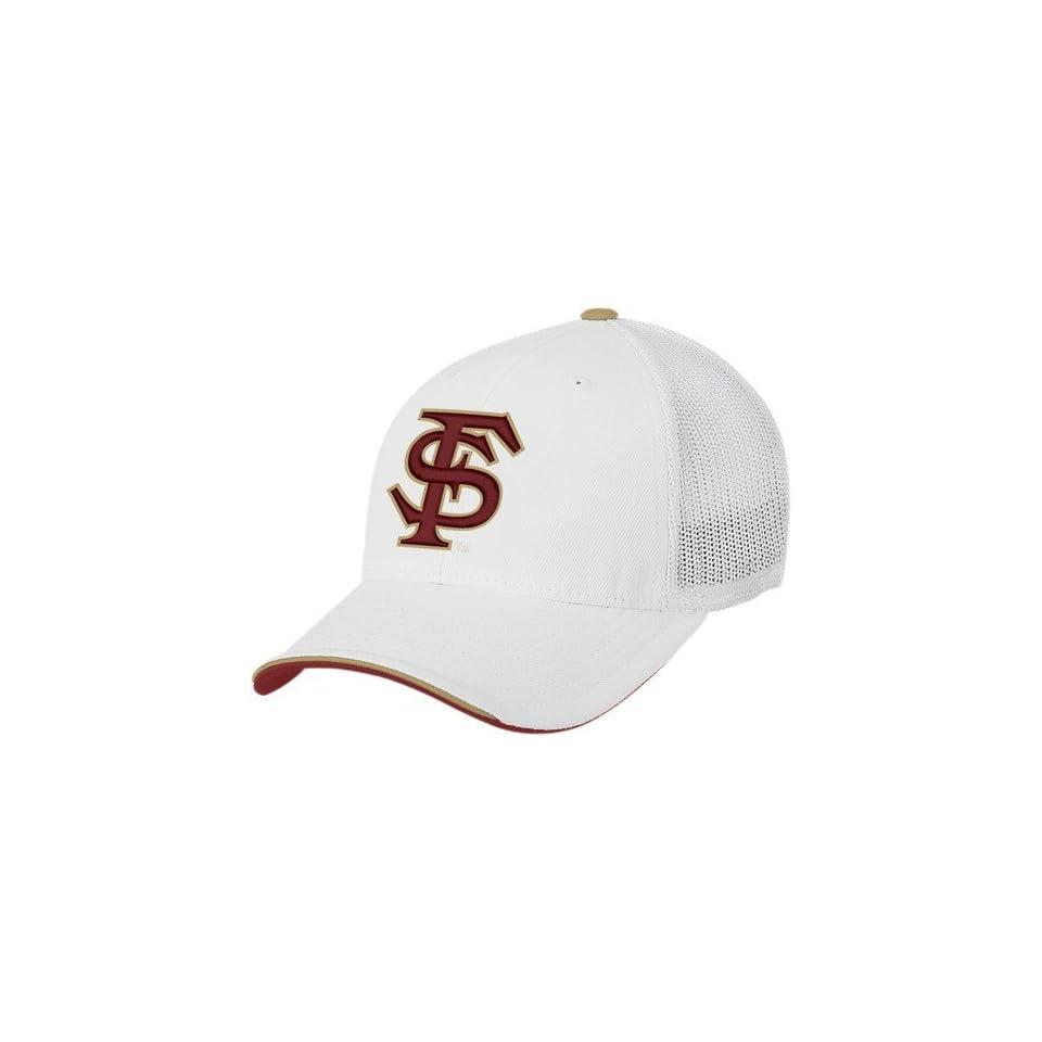 743989fd5a8ff Reebok Heisman Collection Florida State Seminoles (FSU) White Draft Day  Flex Fit Hat
