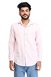 Snoby pink plain cotton shirt SBY8068