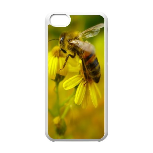 IPhone 5C Cases Bee 16, Iphone 5c Cases for Teen Girls - [White] Ancos