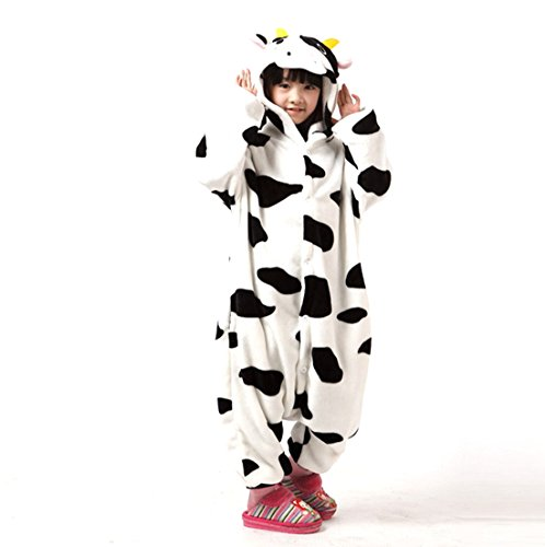 Autek Children Kid Baby Cute Loveyly Animal Unisex Onesie Fancy Dress Costume Hoodies Pajamas Sleep Wear Farm Dairy Cow
