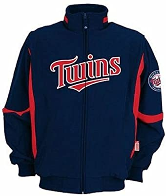 Minnesota Twins Authentic Majestic Navy Therma Base Premier Jacket Big Sizes
