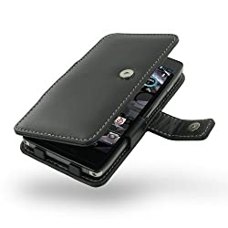 Motorola DroidRazr MaxxHD Leather Case - Book Type (Black) by Pdair