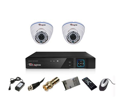 Tentronix-T-4ACH-2-DA13-4-Channel-AHD-Dvr,-2(1.3MP/36IR)-Dome-Cameras-(With-Accessories)