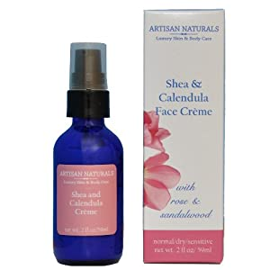 Artisan Naturals All Naturals Skin Care Shea & Calendula Face Creme 2oz