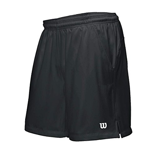 Wilson M Rush 7 Tennis Woven Pantaloncini, Nero, M