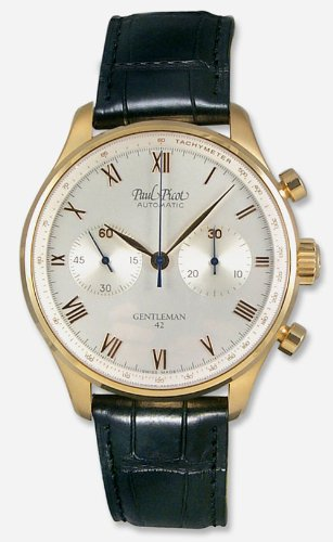Paul Picot Gentleman Chronograph 18k Rose Gold Mens Watch P0204.84.714