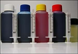 400ml Nachfülltinte und 50ml Düsenreiniger für Patronen PG-50 High Capacity Black pigmentiert PG-40 Black pigmentiert CL-51 High Capacity Color CL-41 Color CL-31 Color ( für Canon PIXMA MP150 PIXMA MP160 PIXMA MP170 PIXMA MP180 PIXMA MP460 PIXMA MX300 PIXMA MX310 )