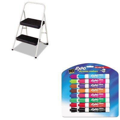 Kitcsc11135Clgg1San81045 - Value Kit - Cosco 2-Step Folding Steel Step Stool (Csc11135Clgg1) And Expo Low Odor Dry Erase Markers (San81045) front-982178