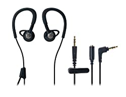 Audio Technica ATH-CP500 BK Black | Sports Inner-Ear Headphones