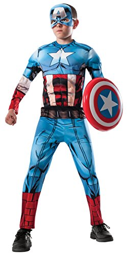 Child's Avengers 2 Age of Ultron Deluxe Captain America Costume with Muscle Chest