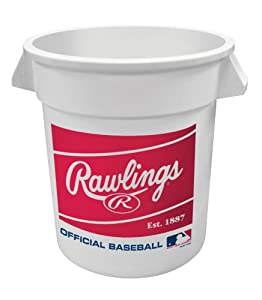 Rawlings R100HS Bucket of 3 Dozen Baseball Non Stamped Practice Ball by Rawlings