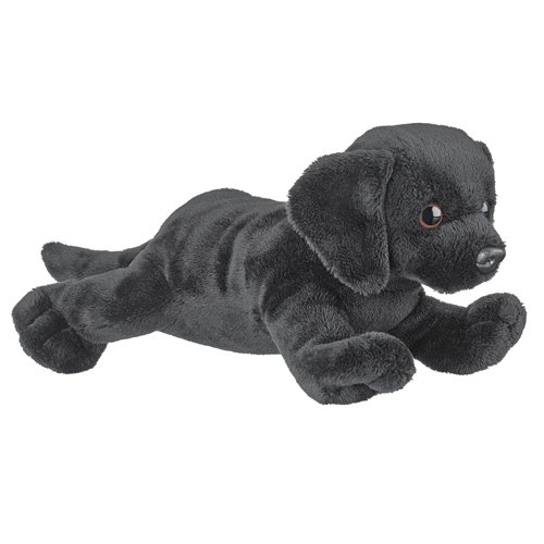 Black Lab Stuffed Animal Dog Plush Wildlife Artists Conservation Critter Black Labrador Retriever front-960023