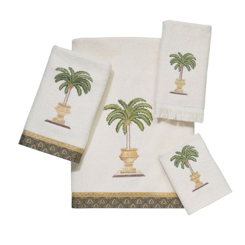 Avanti Date Palm 4-Piece Towel Set, Ivory