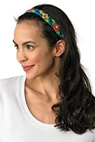 TeyArt Hand Embroidered Flower Headband (Turquoise)