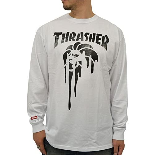(ネスタブランド) NESTA BRAND 大きいサイズ メンズ Tシャツ メンズ 長袖 コラボ プリント 柄 3color 3L ホワイト