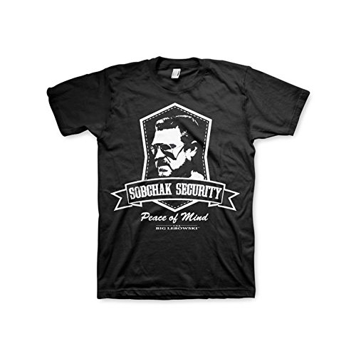 Officially Licensed Merchandise Lebowski Sobchak Security T-Shirt (Black), XX-Large