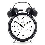 Modern Fashion Lovely Colorful Metal Alarm Clock Black 888