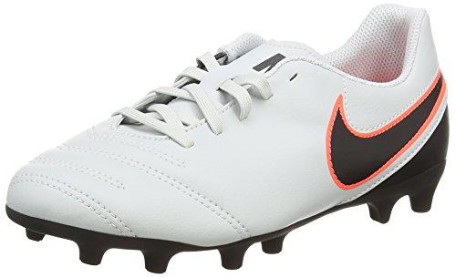 NikeTiempo Rio III FG - Scarpe da Calcio Unisex - Bambini , Bianco (Weiß (Pure Platinum/Black-Hypr Orng 001)), 38 EU