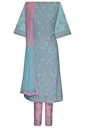 ADA Lucknowi Chikan Handmade Ethnic Cotton Dress Material for Salwar Suit A52779