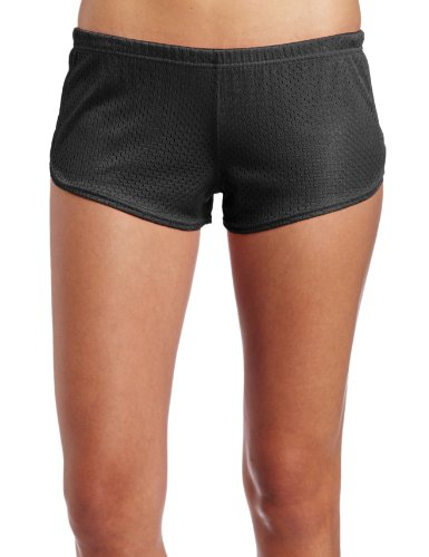 Soffe Juniors Mesh Teeny Tiny Short, Black, X-Large Black Cheer Shorts