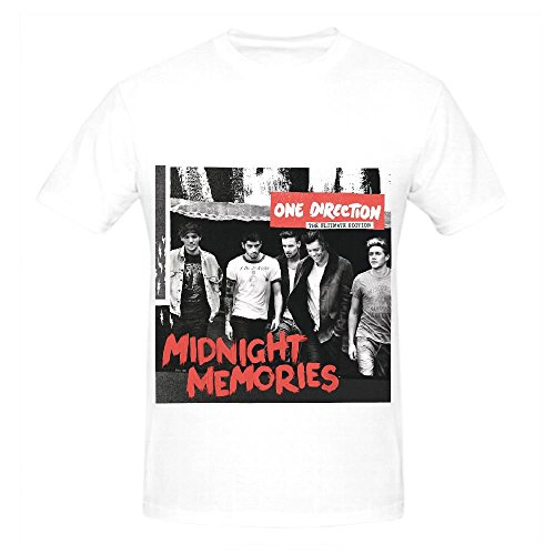 One Direction Midnight Memories Pop Album Men Crew Neck Cool T Shirt White (Power Rangers Compression compare prices)