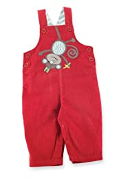 Mud Pie Unisex baby Monkey Overall, Multi Colored, 2T 3T