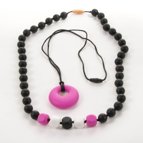 Sassy Baby Beads Mommy And Baby Silicone Chew Teething Beads Necklace - 2 Piece Set - Cotton Candy