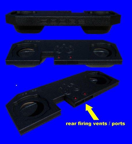 """Fox Acoustics Dodge Ram Quad & Crew Cab Dual 10"""" Vented Sub Speaker Box 2002-2013"""
