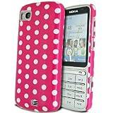 GVAccessories Nokia C3-01 Pink Hard Back Polka Dot Case