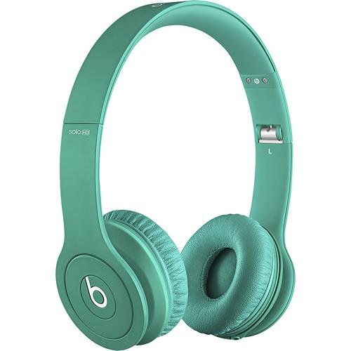 Beats Solo Hd Monochromatic Color Headphones Drenched In Teal Bundle With Beats Cable With Microphone And Custom Designed Zorro Sounds Cleaning Cloth