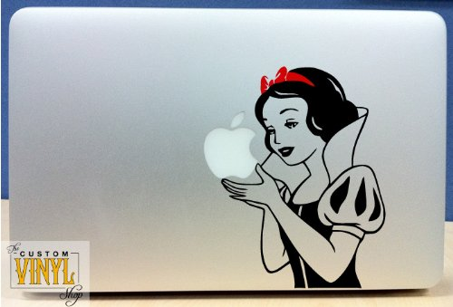 Snow White Apple Macbook Sticker
