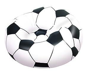 Bestway Luftsessel Fußballsessel Soccer Ball, Schwarz/ Weiß, 114 X 112 X 71 cm, 75010