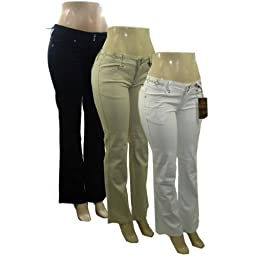Bulk Buys Womens Clash Jeans - Case of 12