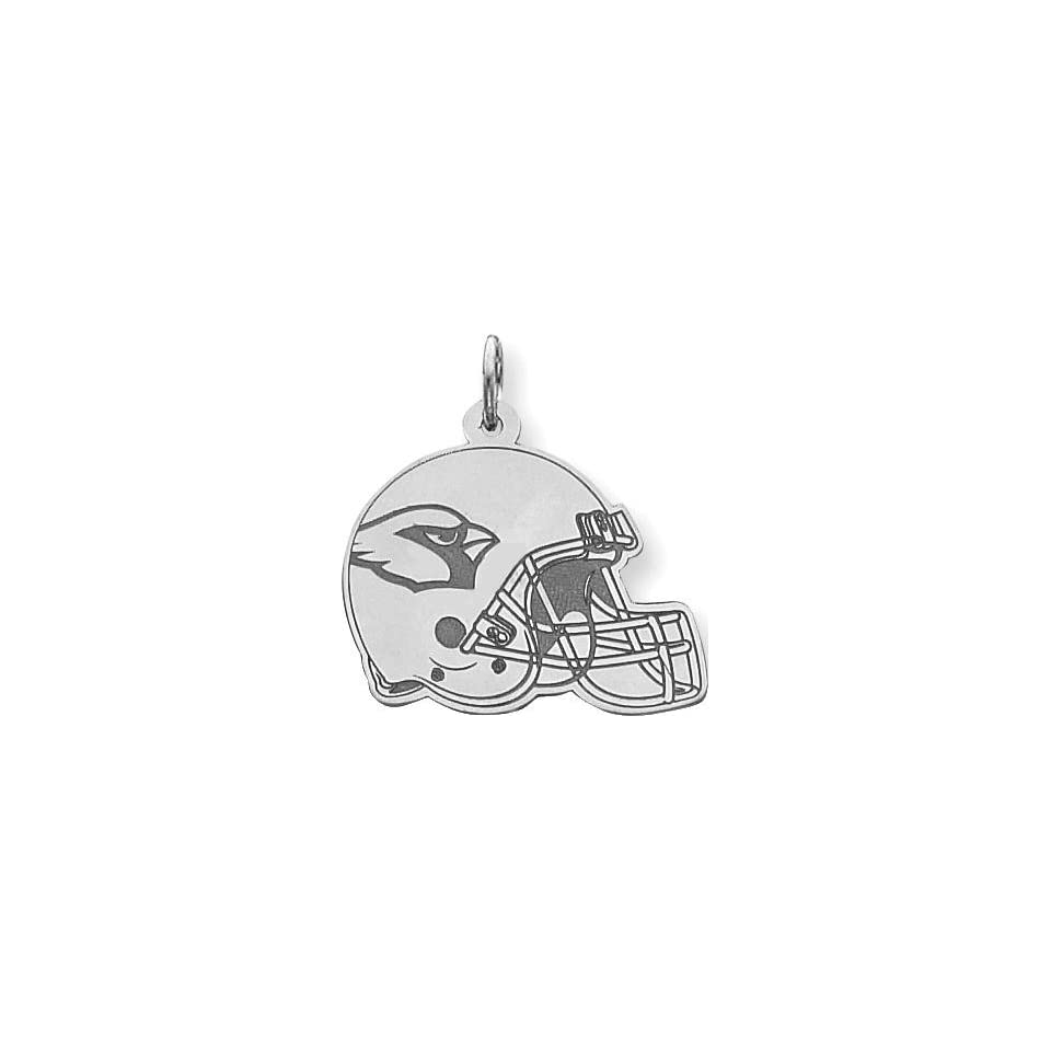 Sterling Silver NFL Arizona Cardinals Football Helmet Charm