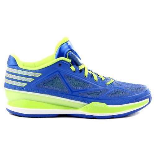 Adidas adizero Crazy Light 3 Low Basketball Shoe - Blue/Solar Slime - Mens - 9.5