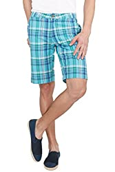 The Cotton Company Checkered Shorts - Tifanny Blue Plaid