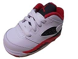 Jordan Retro 5 Low-314340-101-Toddler Fire Red (4C)