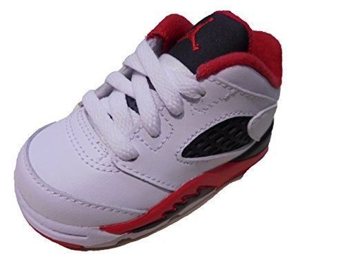 Jordan Retro 5 Low-314340-101-Toddler Fire Red (6C)