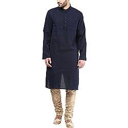 Indus Route by Pantaloons Men's Kurta 205000005577356_Blue_S