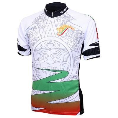 Image of World Jersey's Mexico Azteca Short Sleeve Cycling Jersey (B00488V8CO)