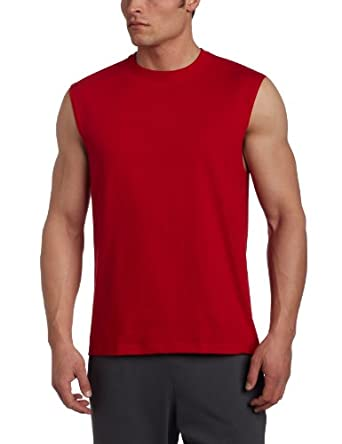 Russell Athletic Men's Athletic Sleeveless Tee, True Red, Small