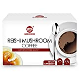 GANOHERB Ganoderma Lucidum Coffee 2 In 1 Instant Black Coffee Lingzhi, Delicious,Nutritious And Flavorful With 100% Certified Organic Reishi Mushroom Spore And Extract (Color: Black, Tamaño: coffee)