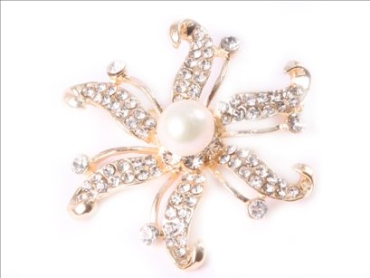 9-10mm white freshwater pearl beads with yellow gold plated starfish brooch 48mm