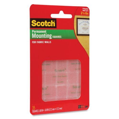 Scotch R Mounting Squares for Fabric WallsB00006IF79