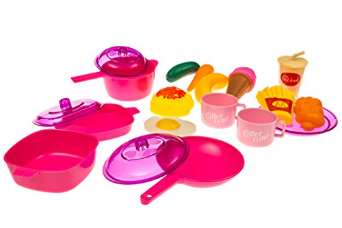 Toy Food And Dishes : Kids play food dishes set toy kitchen accessories